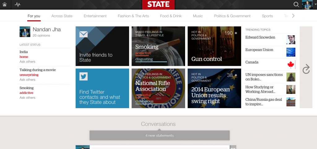 Homepage of State.com