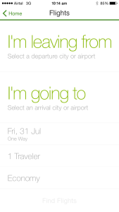 Trip Ad Flights UI
